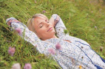 Entspannen auf der Wiese